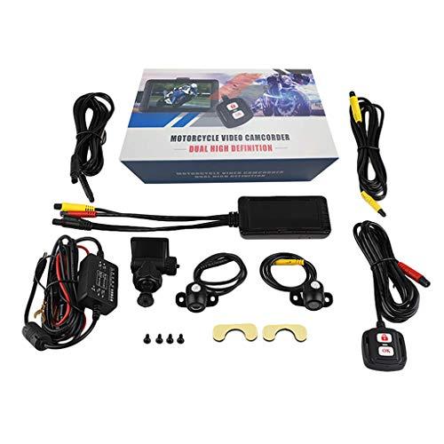 Fornateu 3.0 Pulgadas LCD de la cámara HD 1080P de la Motocicleta DVR Dash CAM Frontal Vista Posterior Video Recorder Moto visión Nocturna dashcam