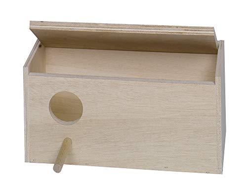 Vogel Schachteln Feeding Station House YUOKI99 Gro/ßsittichkobel Nestmulde Anflugstange H/ölzerne Vogel Nistkasten Sittich Wellensittich Kanarienvogel Zucht Box