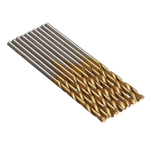 Fornateu 50PCS Acero de Alta Velocidad Fresa Espiral 1,0/1,5