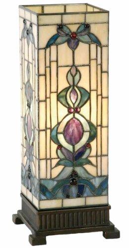 Lumilamp 5LL-9220 - Lampada a colonna in stile Tiffany, 18 x 45 cm, 1 lampadina E27 max 40 W, in vetro colorato