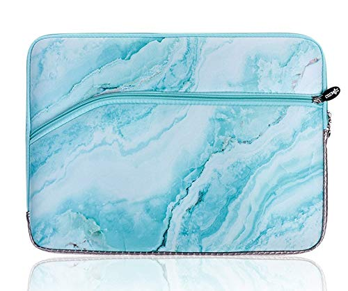 LuvCase Laptop Protective Sleeve Waterproof Case Bag with Pocket Compatible MacBook Air/Pro 13-13.3 Inch, Surface Book 13.5', Acer, Dell, Lenovo HP Notebook (Blue Marble)