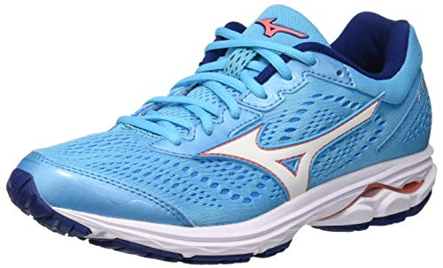 Mizuno Wave Rider 22, Zapatillas de Running para Mujer, Azul (Blueatoll/White/Georgiapeach 01), 38 EU
