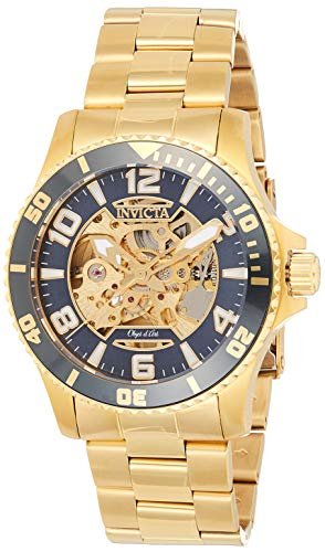 Invicta Relógio masculino automático Objet D'Art 42 mm dourado de aço inoxidável, dourado (modelo: 22604)