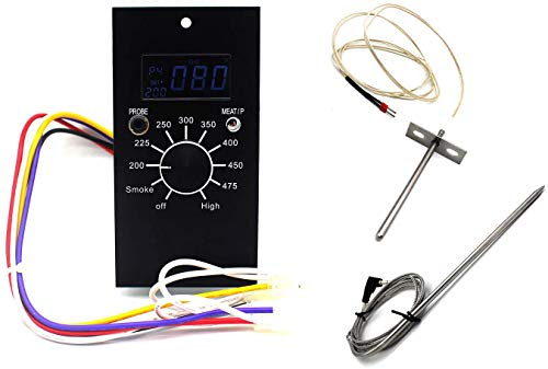Unifit Universal Replacement Parts for Pit Boss Pellet Smoker Grills Digital Temperature Control Panel Kit, with Sensor and Meat Probe