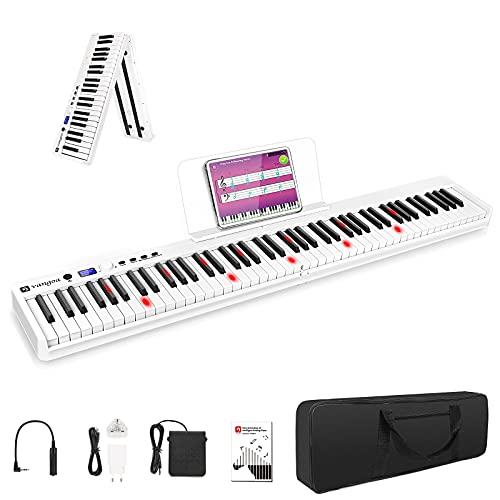Vangoa 88 Keys Piano Keyboard Foldable Bluetooth Electronic Keyboard Piano...