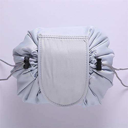 Mesdames Voyage cosmétique Sac à cordonnet cosmétique Sac de rangement Sac cosmétique Sac de rangement Sac cosmétique de beauté Boîte à outils (Color : Blank light grey)