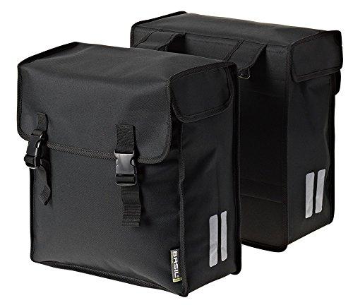 Basil Doppelpacktasche Mara 3XL Fahrradtasche, Black, 40 x 19 x 49 cm