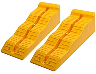 Motorup America Multi-Level Ramp Chock Block - (Pack of 2) Trailer Accessories Best for Leveling RV Truck Van SUV & Car - ...