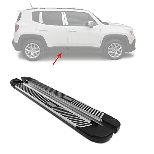 OMAC Placas de corrida de alumínio Nerf Bars 2 peças | Serve para Jeep Renegade 2015-2020 - Peça de reposição de trilho lateral | Acessórios externos de carro