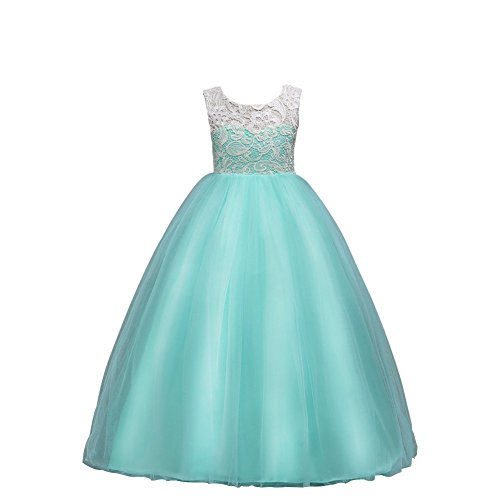Wulide Niñas Niños Largo Vestido Gala Encaje Vestidos De Ceremonia Fiesta Elegantes...