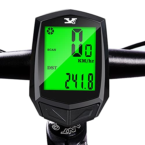 WNPA Bicycle Speedometer Odometer Wireless Waterproof Cycle Bike Computer with LCD Backlight Display Speed Tracker Cycling Accessories