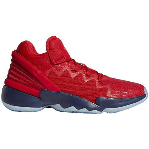 adidas unisex adult D.o.n. Issue 2 Basketball Shoe, Scarlet/Team Navy Blue/Gold Metallic, 11.5 Women Men US