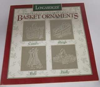 Longaberger Commemorative Christmas Pewter Basket Ornament Set 1994