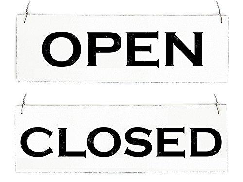 Interluxe Vintage Shabby Schild Türschild Open Closed (*2*) Wendeschild Ladentür