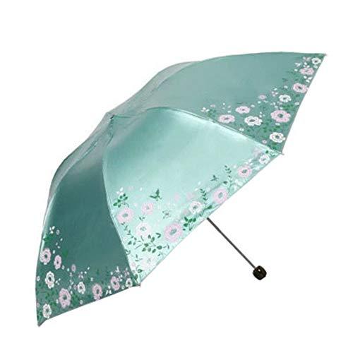 Modello Bordo Modello Antivento Ombrello Leggero Nero Colla Protezione Solare Ombrello 7-Ribs Manuale Pieghevole Ombrello Forniture per la Scuola Verde Verde