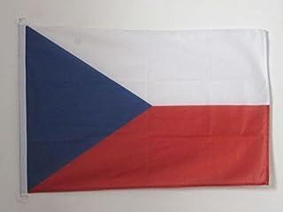 AZ FLAG Tjeckien flagga 2 x 3 tum för utomhus – tjeckiska flaggor 90 x 60 cm – banderoll 2 x 3 fot stickad polyester med r...