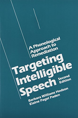 Targeting Intelligible Speech: A Phonological Approach to...