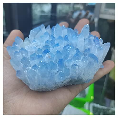WYGOAKG 500 – 600 g Raro de cristal azul natural racimo de muestras minerales decoración de la boda Reiki Healing Specimen Home Deco