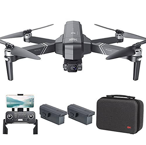 Entrega en 3~7 Días, SJRC F11 Pro 4K GPS Drone con EIS Cámara HD, Cardán Mecánico de 3 Ejes, Distancia de Control de 1,2km, 5.8Ghz WiFi FPV Drones Adultos, 26Minutos Profesional Quadcopter (2 Pilas)