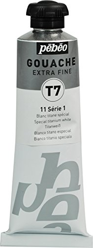 Pébéo-Pintura aguada 1 tubo de 60 ml, color blanco de titanio