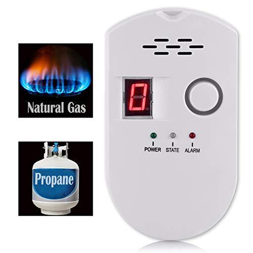 Natural Gas Detector, Propane Detectors for Home,Natural Gas Propane Leak Alarm for Home Kitchen, High Sensitivity Natural Gas Propane Leak Detection
