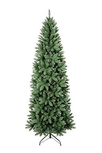 XONE Albero di Natale Jackie Slim, Folto e Slanciato | Albero Artificiale in PVC 240 cm