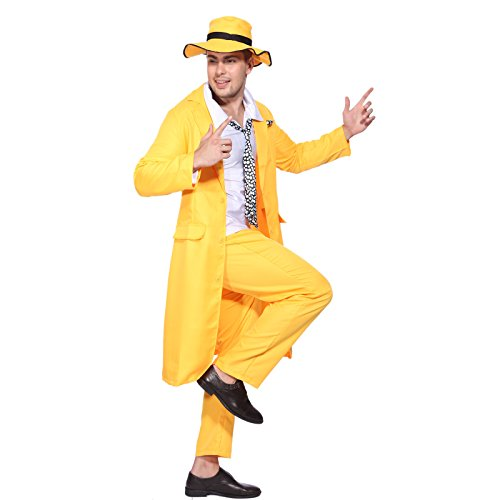 maboobie Déguisement costume tenue Adulte Homme garcon The Mask Jim Carrey pantalon chapeau veste film cinema personnage