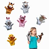 Koodreat Farm Animal Friends Kids Hand Puppets(Set of 6 - Cow, Horse, Sheep, Duck,Rabbit and Pig - Soft Plush Material, Great Gift for Girls and Boys - Kids Toy Best for Imaginative Play )