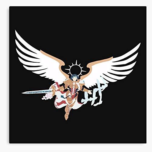 Fantasy Angel Saint of Warhammer 40K Sisters Battle Sob I Fsgbercegeay Design All Canvas Printed Trendy Artwork for Wall Decor