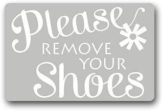 Custom Machine-Washable Door Mat Please Remove Your Shoes Indoor/Outdoor Doormat 23.6 (L) x 15.7 (W) inches