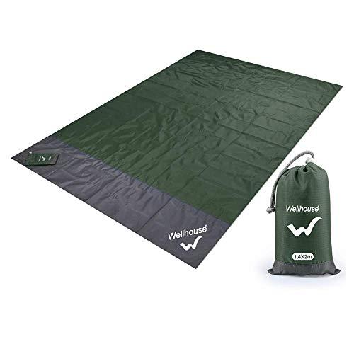 Campingmatte 140 × 200 cm, wasserdicht, Picknick-Decke, Sanddicht, Stranddecke, Picknick-Matte für Reisen, Camping, Wandern und Musikfestivals