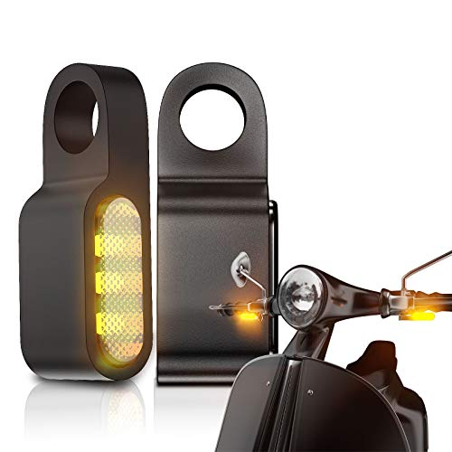 CCAUTOVIE paar LED Blinker Mini LED Motorrad Blinker Licht E Geprüft für Motorrad Lenkerbefestigung Universal für Harley Yamaha Suzuki BMW Honda ATV Trike