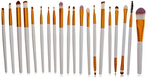 Kit Pinceis Branco Maquiagem Profissional 20 Peças