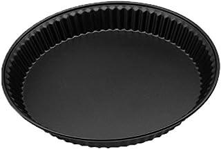 Zenker 7542 Moule à quiche, moule à tarte, moule rond, Acier Inoxydable, Noir, 28 x 28 x 4 cm