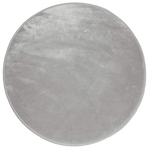 douceur d'intérieur tapis rond (0)90 cm velours louna gris
