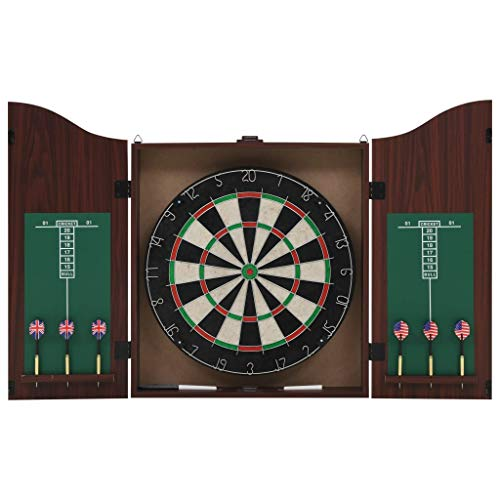 vidaXL Dartbord met 6 Darts en Kast Professioneel Sisal Dart Bord Darten