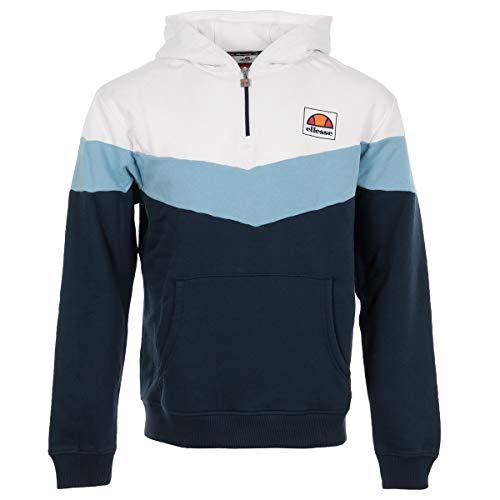 ellesse Men's Hoodie Zip Tricolore, Sweatshirt - XS