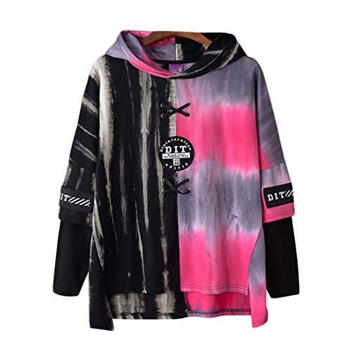 Irypulse Herren Kapuzenpullover Hoodies Sweatshirts Pullover Langarm Dip Dye Schnürung Casual Tops Mode Urban Stil Trend Hip Hop Jugendliche Jungen für Freizeit Outdoor – Original Design