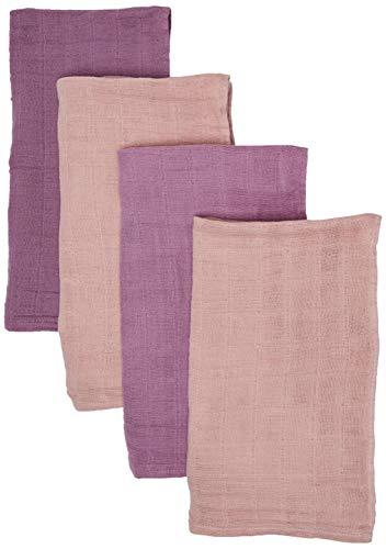 Pippi Unisex Baby 4er Pack Windeln für Spucktücher, Kuscheltücher oder Windeltücher geeignet Badebekleidungsset, Rosa (Pale Mauve 593), (Herstellergröße:65x65)