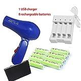 Seche Cheveux Compacte Batterie Rechargeable Sans Fil Compacte Usb Petit Seche...