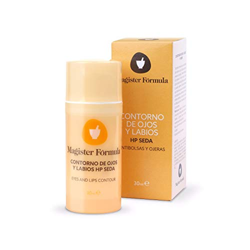 Oog en lippen crème HP Silk 30ml | Hyaluronzuur | Natuurlijk zijdehydrolysaat | Anti-Wrinkle & Anti-Dark Circle Moisturizing Serum | Vrouw & Man | Dag & Nacht | Magister Formula