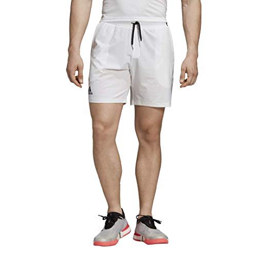 adidas Men's Club 7 Inch Tennis Short, White, Medium