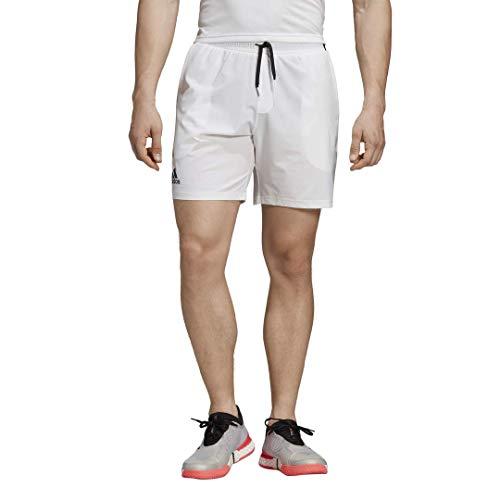 adidas Men's Club 7 Inch Tennis Short, White, Large