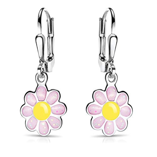 MATERIA Kinder Ohrringe Blume rosa...