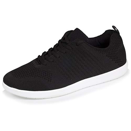Isotoner - Zapatillas deportivas para hombre flexibles y ligeras, únicas, Negro (Negro ), 46 EU