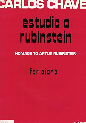 CHAVEZ RAMIREZ CARLOS; ESTUDIO A RUBINSTEIN; KLAVIER