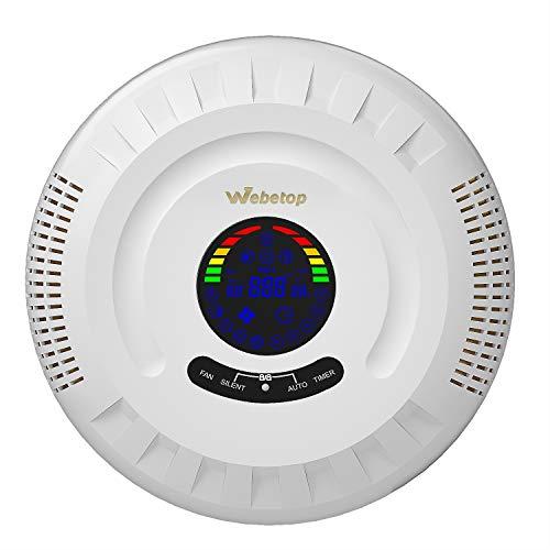 Webetop filtro HEPA purificatore d'aria per casa, ufficio, camera da letto, purificatore d'aria con filtro HEPA HESA per ambienti grandi con luce notturna opzionale