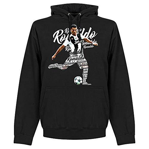 Ronaldo 7 Script Boys Kapuzenpullover - schwarz - 8 Jahre