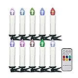 Velas LED sin llama para ventanas, velas cónicas parpadeantes que funcionan con pilas con temporizador remoto, luces de velas para árboles de Navidad, velas LED flotantes para decoración del hogar