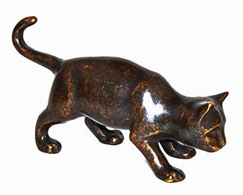 Thermobrass Gartenfigur Katze - Bronze - 23x8x14 cm